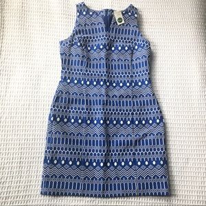 NWT Boden Clara Embroidered Blue Dress size 8